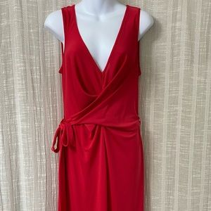 BCBG Red Maxi Dress with Slit